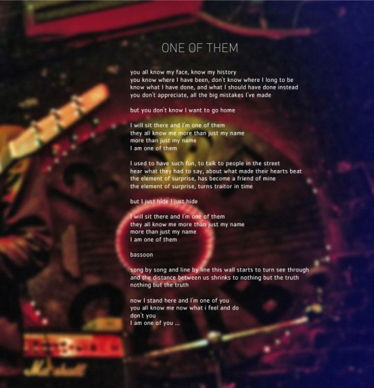 One Of Them art-lyrics