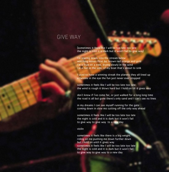 Give Way art-lyrics